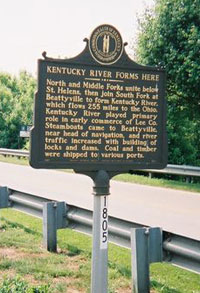 Historic Marker in Lee County, Kentucky